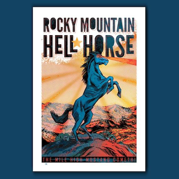 HELL HORSE - New Limited Edition #1 - 13x19 Art Print by Rob Ozborne