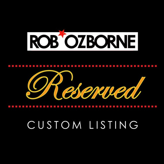 Custom Listing - Reserved for David H - Thank you