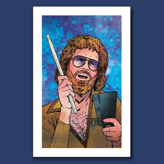 MORE COWBELL - Will Ferrell - Blue Oyster Cult Pop Music Tribute 11x17 Art Print by Rob Ozborne
