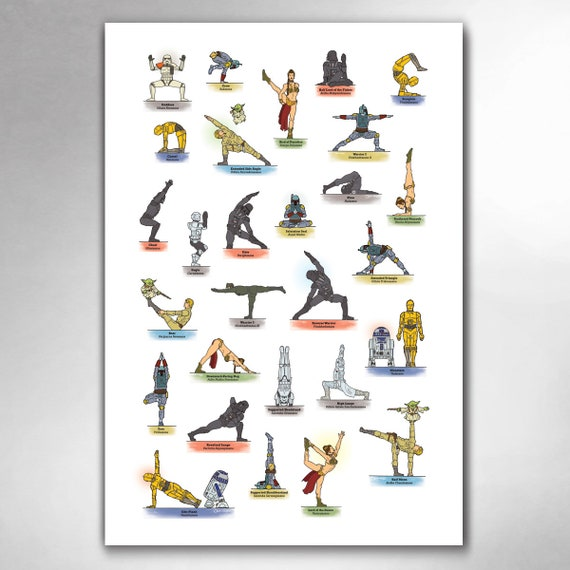 GALAXY YOGA Pop Art Print 13x19 by Rob Ozborne