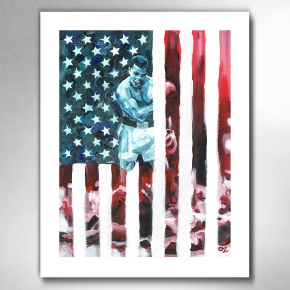 CHAMP ALI - Muhammad Ali - American Hero Painting Art Print by Rob Ozborne