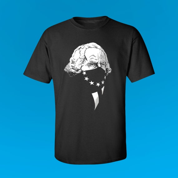 GEORGE WASHINGTON Original Gangsta - Men's Fitted Graphic T-Shirt by Rob Ozborne - American Summer