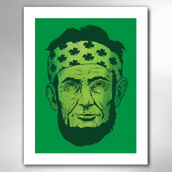 LUCKY LINCOLN Abraham Lincoln 11x14 Art Print by Rob Ozborne