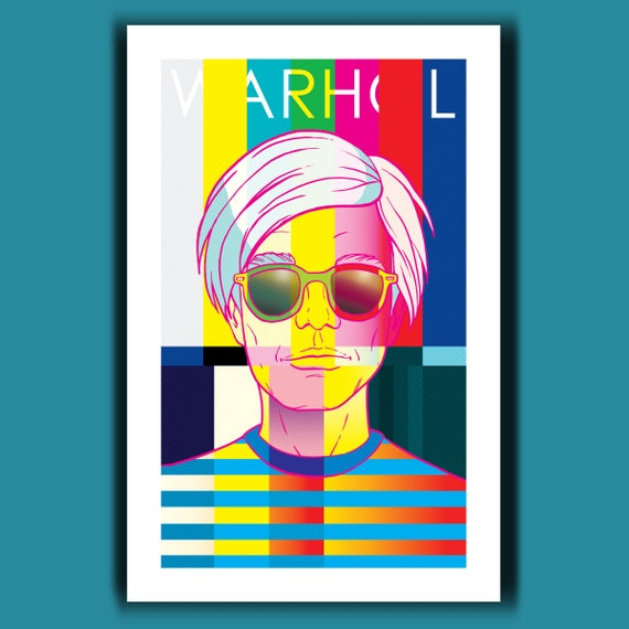 ANDY WARHOL - 15 Minutes of Fame - Pop Art Print 11x17 by Rob Ozborne