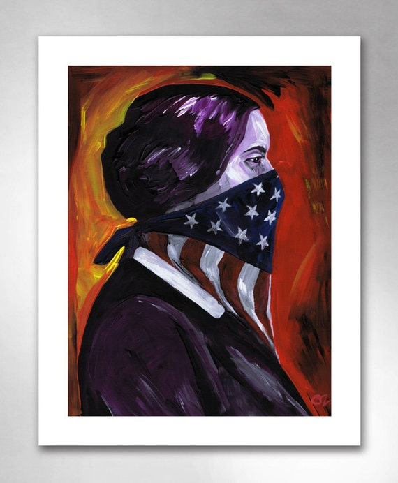 SUSAN B ANTHONY American Art Print 11x14 by Rob Ozborne