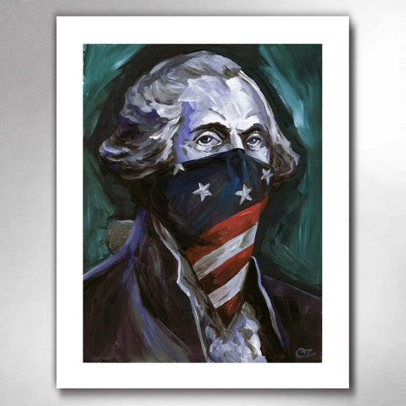 GEORGE WASHINGTON - Revolutionary Outlaw - American Painting Art Print by Rob Ozborne