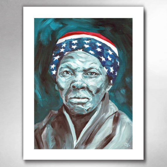 Harriet Tubman - Underground Railroad Hero - American Painting Art Print by Rob Ozborne