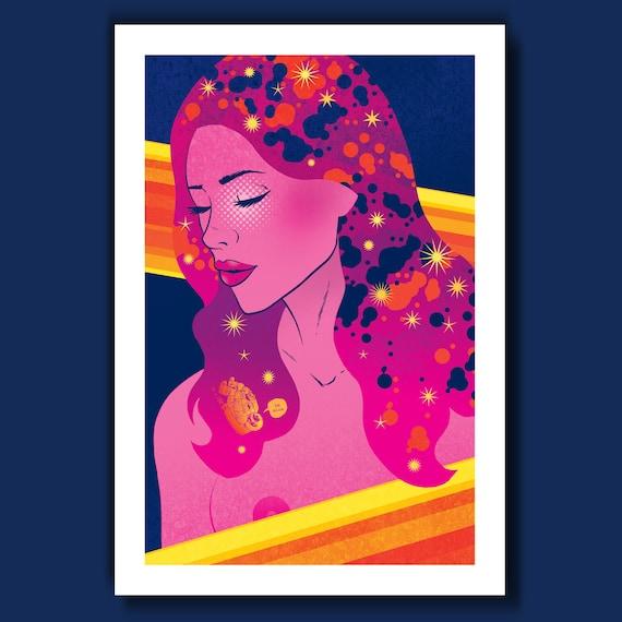 ASTROGIRL #3 - Summer Girls - 13x19 Art Print by Rob Ozborne