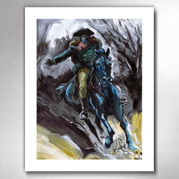 PAUL REVERE - Ready To Ride - American Painting Art Print by Rob Ozborne
