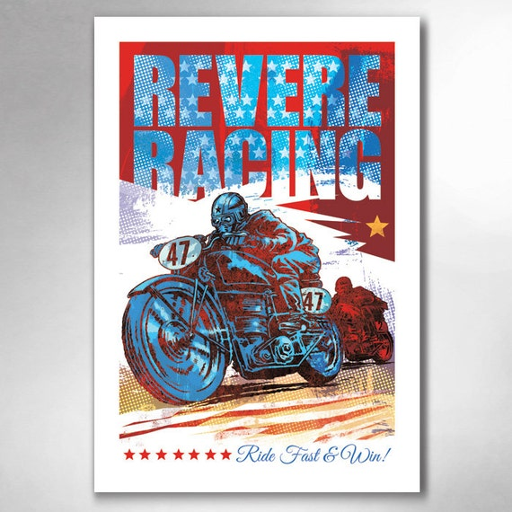 Revere Racing 13x19 Art Print by Rob Ozborne