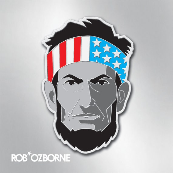 ABE LINCOLN Enamel Pin - American USA Freedom Pin - Collectible Art Pin by Rob Ozborne