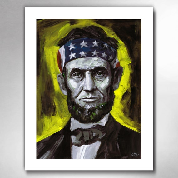 ABE LINCOLN - Liberty Thinkin - American Painting Art Print by Rob Ozborne
