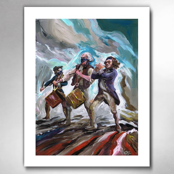 YANKEE DOODLE OUTLAW - American Painting Art Print by Rob Ozborne