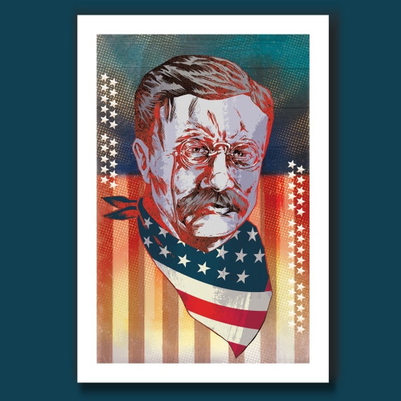 TEDDY ROOSEVELT Speak Softly 13x19 Art Print by Rob Ozborne