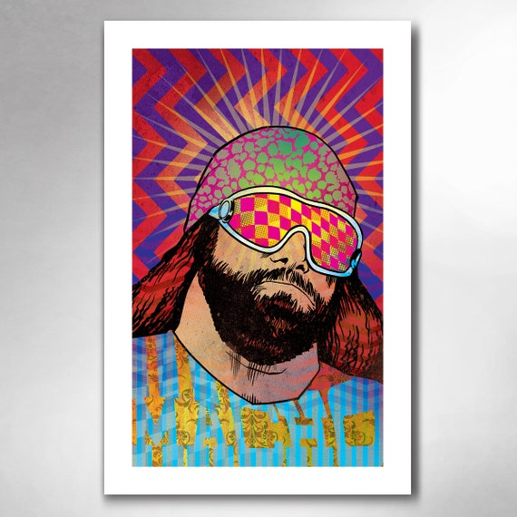 MACHO MAN Randy Savage Wrestling Art Print 11x17 by Rob Ozborne