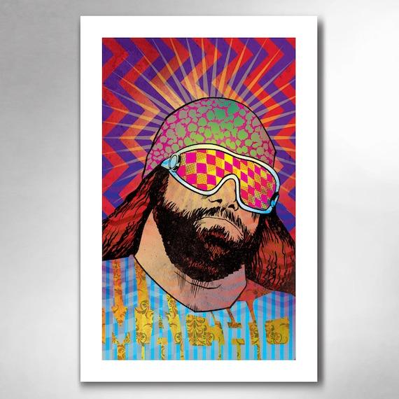 MACHO MAN Randy Savage Wrestling Art Print 11x17 by Rob Ozborne