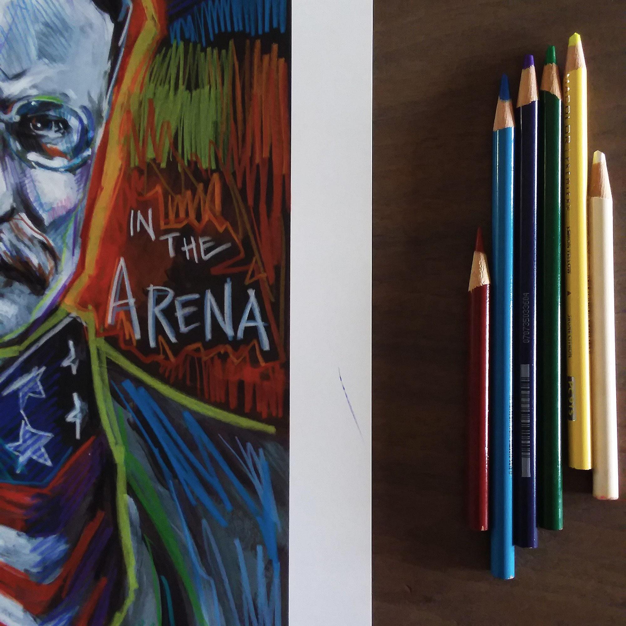 Man In The Arena Original Art