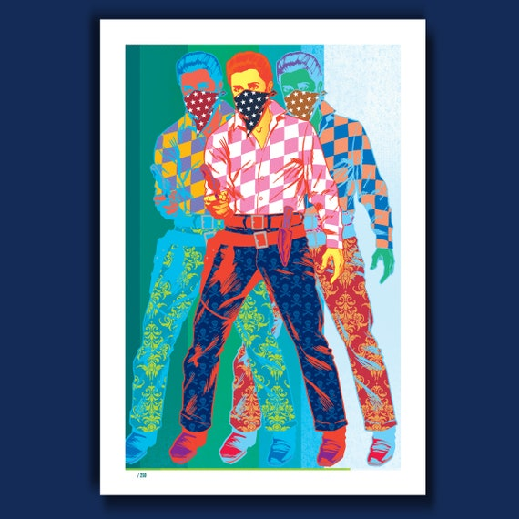 TRIPLE OUTLAW ELVIS - 13x19 Limited Edition Art Print by Rob Ozborne