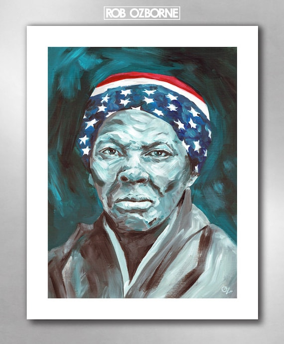 Harriet Tubman - American Hero Art Print 11x14 by Rob Ozborne