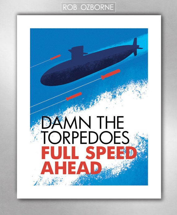 FULL SPEED AHEAD Art Print 11x14 by Rob Ozborne
