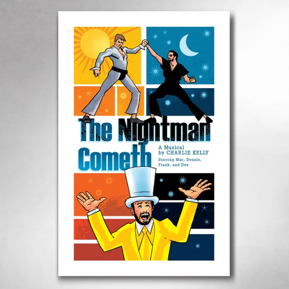 NIGHTMAN COMETH The Musical Sunny in Philly 11x17 Art Print by Rob Ozborne