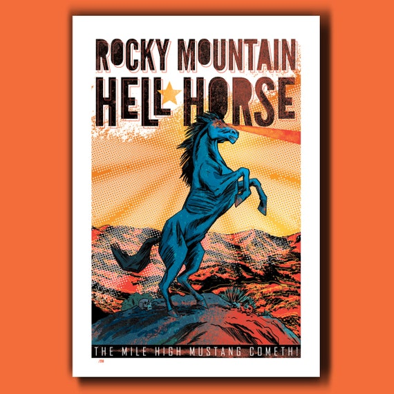 HELL HORSE Limited Edition 13x19 Art Print by Rob Ozborne