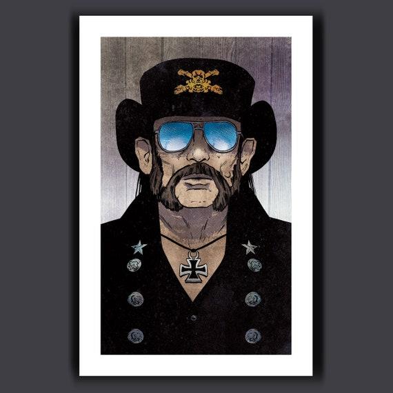 LEMMY KILMISTER - Motorhead Frontman - Heavy Metal Rock Icon Music Tribute Art Print 11x17 by Rob Ozborne