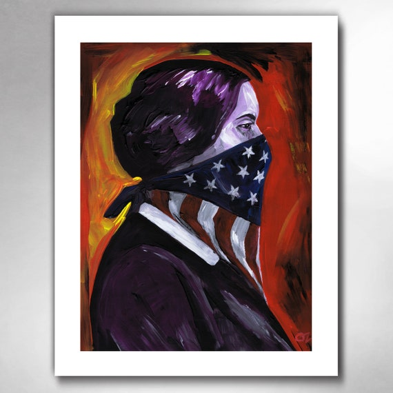 SUSAN B ANTHONY -  Womens Rights Hero - American Art Print by Rob Ozborne