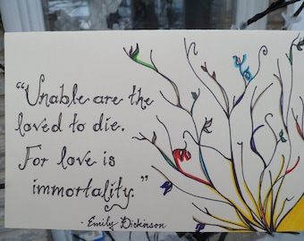 """Greeting Card- """"Love is Immortality"""""""