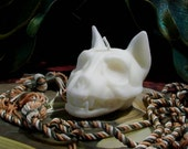 Cat Skull Beeswax Candle