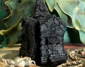 Haunted House Black Beeswax Candle Large 4