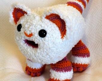 Rainbow Sherbet Monster crochet amigurumi