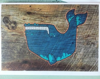Right Whale Ahoy - Greeting Card