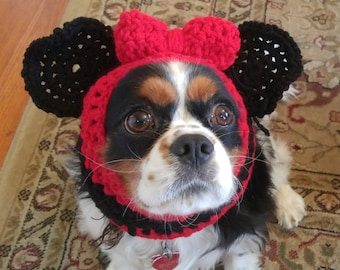 Minnie Mouse Dog Snood / Hat / Costume