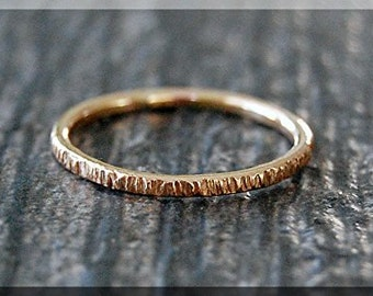 14k Gold Filled Twig Ring, Bark Texture Ring, Gold Stacking Ring, Gold Filled Stackable Ring, Woodland Ring, Nature Inspired Simple Ring