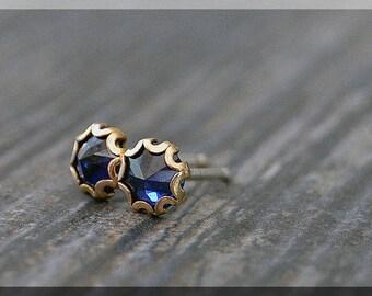 Gold Filled Birthstone Post Earrings, Gemstone Stud Earrings, Handmade Earrings, Choose Your Birthstone Earrings, Sterling Silver Post