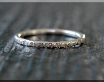 Sterling Silver Twig Ring, Bark Texture Ring, Branch Stacking Ring, Sterling Silver Stackable Ring, Woodland Ring, Nature inspired jewelry