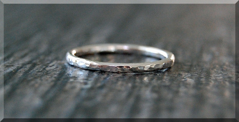 Dainty RingSimple Stacking Hammered Stackable Sterling Ring Silver VUzpqMS