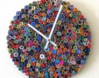 Paper Bead Wall Clocks