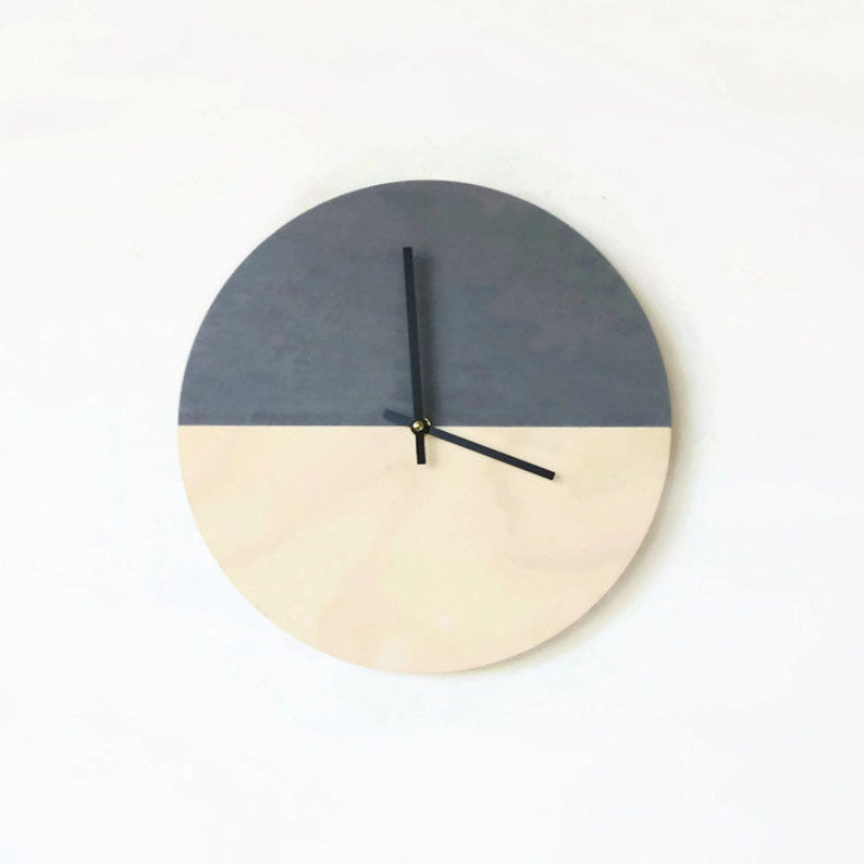 Large Modern Wall Clock Reclaimed Wood Home Decor and Wall image 0