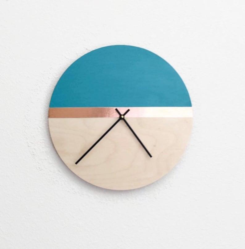 Large Wood Clock Modern Organic Home Decor Laser Cut Wood image 0