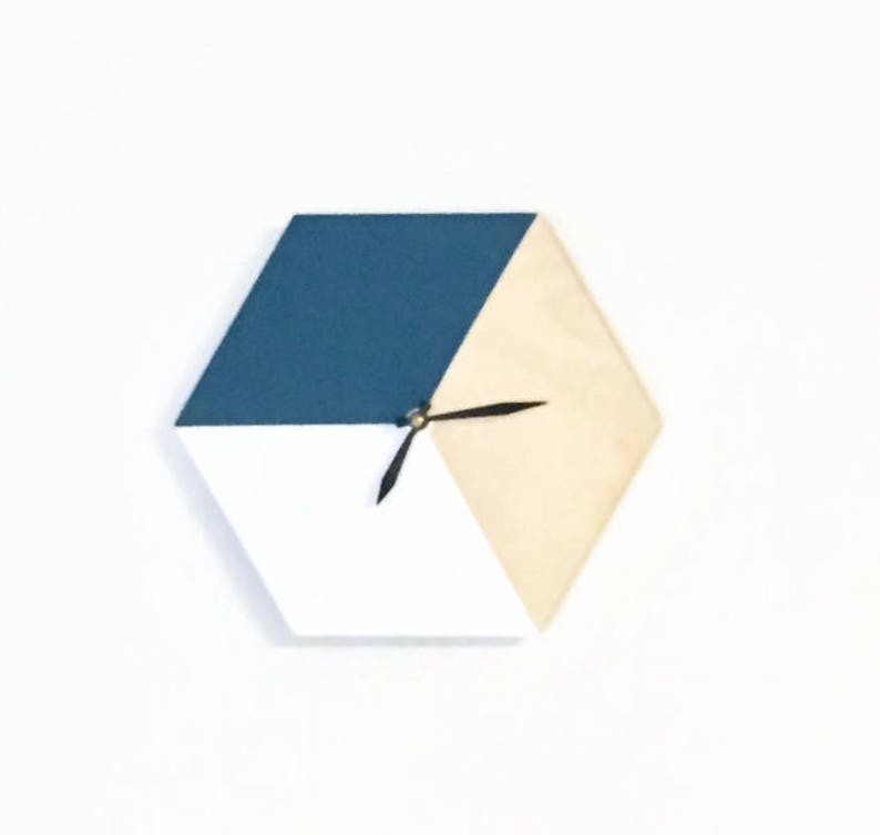 Wood Wall Clock Hexagon Wall Art & Home Decor image 0