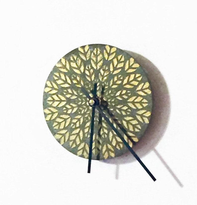 Mandala Clock For Walls Small Reclaimed Wood Desk Clock Eco | Etsy