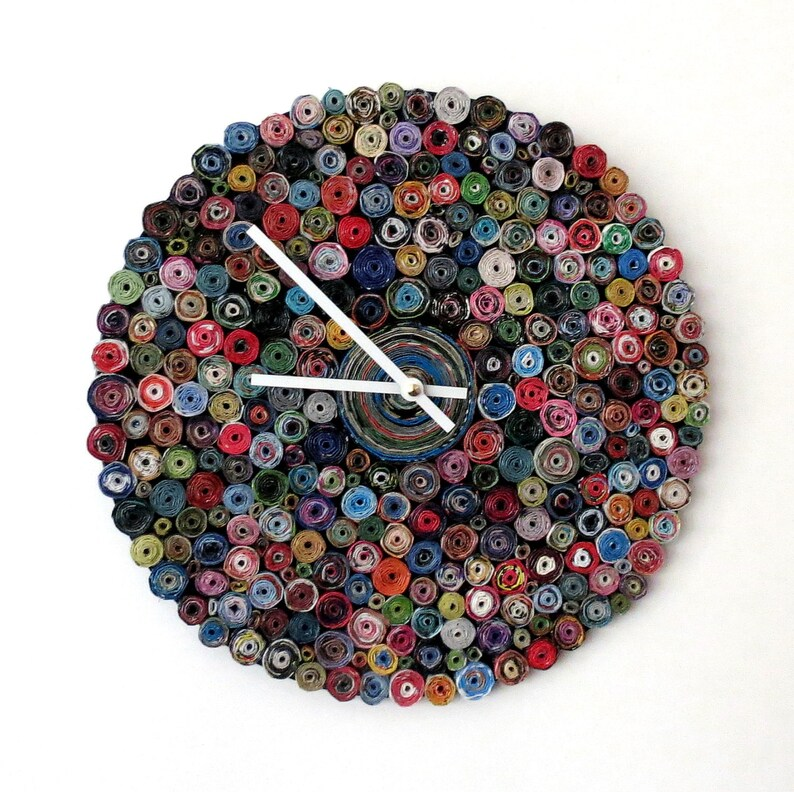 Paper Wall Clock  As Seen In Vogue  Eco Friendly Art and image 0