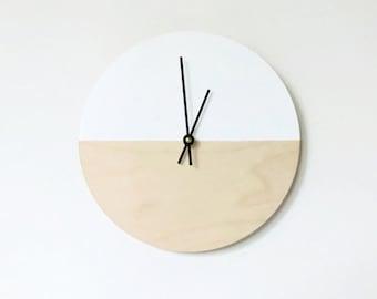 Modern Wood Wall Clocks, Natural Wood Art and Home Decor, Eco Friendly Living