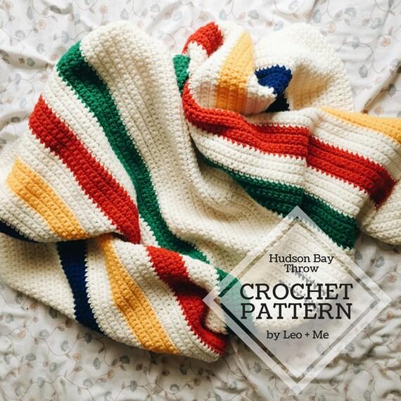 Hudson Bay Blanket Pattern Crochet Baby Blanket Pattern Etsy