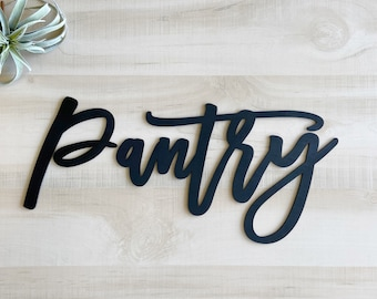 pantry sign wood