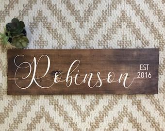 Family Name Sign | Family Established Sign | Family Established Wood Sign | Last Name Sign | Rustic Home Decor | Farmhouse Decor