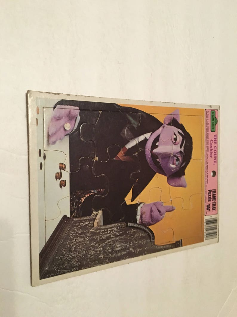 sesame street the count cashier golden frame tray puzzle