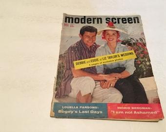 november 1958 modern screen magazine